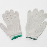 劳保手套棉线手套普通工作本白线手套 12对一扎出售