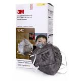 3M 口罩 9042/9041 KN90防雾霾防PM2.5活性炭 除异味防粉头带式耳带式 25只