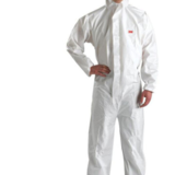 3M 4510带帽连体防护服防颗粒防喷溅防静电白色连体防尘服化学实验服喷漆油工作防化服