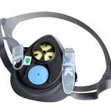 3M 防毒面具 3200 防护三件套 工业防尘面罩 防颗粒物粉尘 (主体+滤棉+承接座)