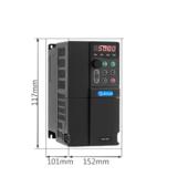 厂家直销 低压通用 380V 矢量变频器1.5KW 三相 用于三相异步电机