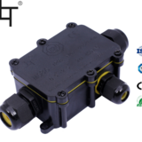 TUV CE IP68防水接线盒 一进2出三头电缆接线盒 户外水底灯适用