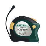 世达钢卷尺3米5米LED带灯卷尺加厚木工米尺子高精度测量工具91346