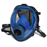 蓝色硅胶球状全景速戴型全面罩(接滤罐)
