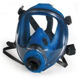 蓝色硅胶大视野全面罩(接滤罐)