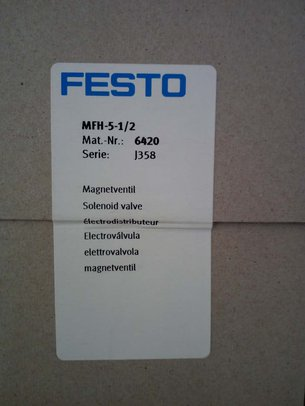 FESTO电磁阀MFH-5-1/2