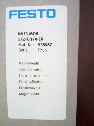 FESTO电磁阀 NVF3-MOH-5/2-K-1/4-EX