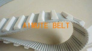PU钢丝同步带加挡块 聚氨酯同步带加异样挡块 特殊加工 可来图来样定制