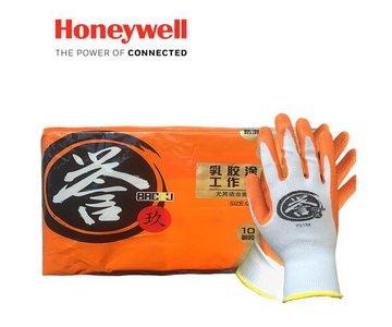 霍尼韦尔YU138天然乳胶工作手套 掌浸防滑耐磨耐油机械防护手套誉系列
