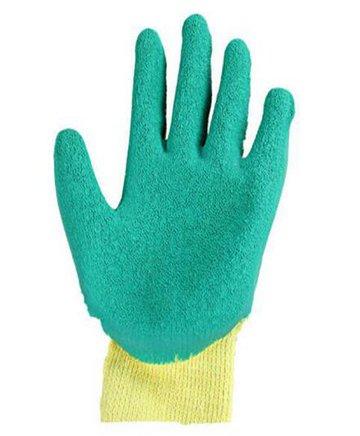 国产优质十针乳胶皱纹涂胶手套 耐磨 防滑 透气 挂胶劳保手套加厚胶