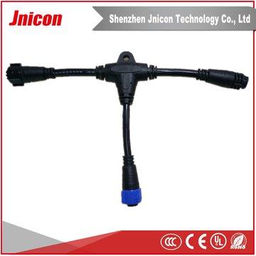 厂家直供 M19三通防水连接器 T型防水插头 可定制航空连接器