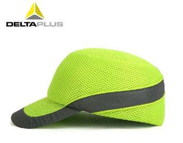 代尔塔防撞帽 荧光黄 防砸透气工地安全帽 电力建筑工程安全头盔 可印字 防撞轻型棒球帽