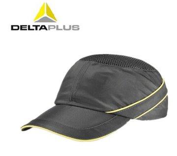 代尔塔防撞帽 灰色 防砸透气工地安全帽 电力建筑工程安全头盔 可印字 防撞轻型棒球帽 灰色