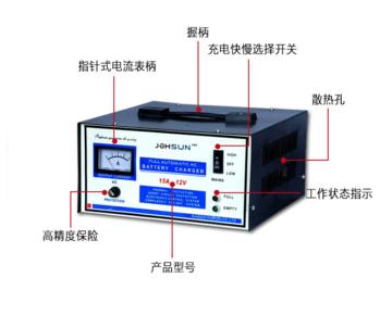 中翔科技 220V单相便携式充电机 AUT-15A/12V 过充保护型充电器