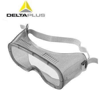 代尔塔 101125 防护眼镜 安全眼镜 PC护目镜 透明防化眼镜 防飞溅 劳保木工护目镜