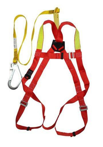 霍尼韦尔DL-C1单挂点集成式全身安全带配2m単叉缓冲系带和1个脚手架挂钩和工具包