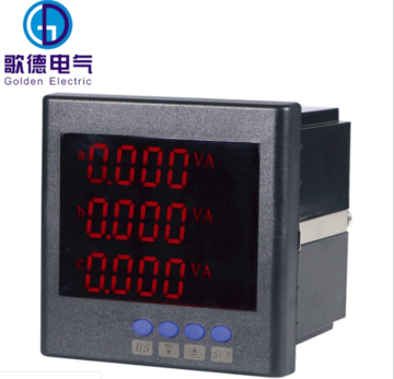 厂家热销智能多功能电力仪表 上海纳宇LCD液晶三相多功能电力仪表GD194E-9S4Y