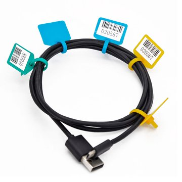 100个标牌扎带标签扎带一次性网线标记扎带扎绳可写字