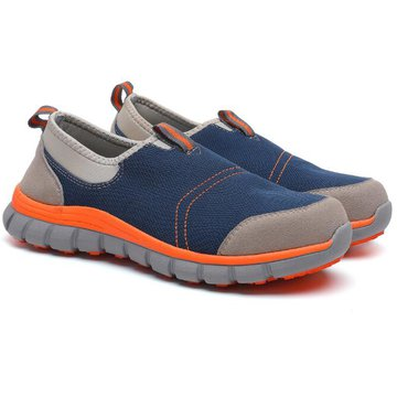 一脚蹬超轻炫彩透气安全鞋(防砸、防静电)