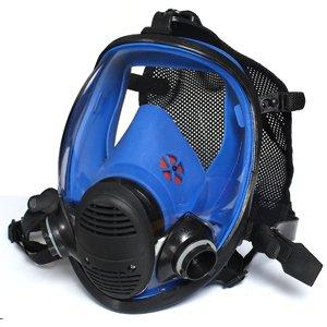 蓝色硅胶球状全景速戴型全面罩(接滤盒)