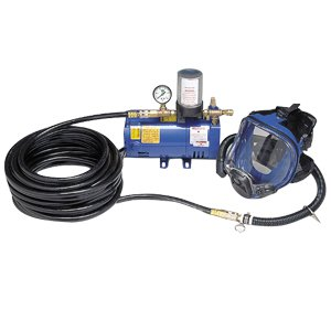 一人用长管呼吸器套装(带全面罩、 3/4 马力泵和 50 英尺(15.24米)气管)