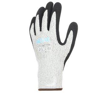 掌部双层丁腈磨涂层5级防切割手套